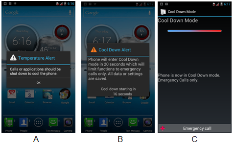 What should I do if I receive cool down message? (DROID RAZR™ M)