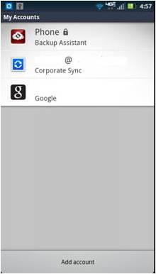 I'm unable to setup a corporate sync account on my DROID 4