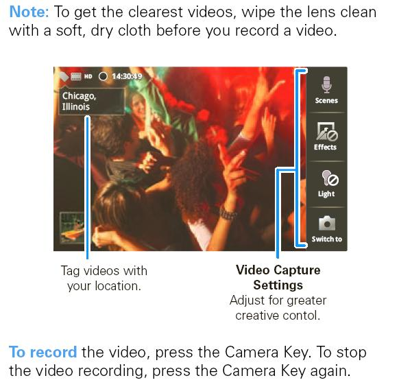 Droid X Camcorder Video Camera