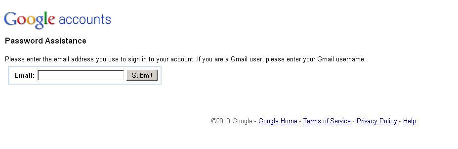 Ich habe mein gmail passwort vergessen was tun