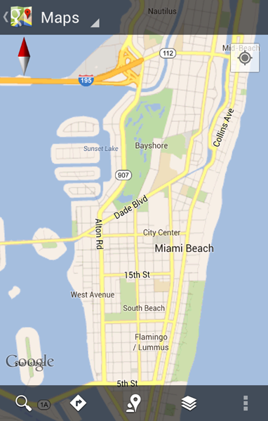 Google Maps™ - Compass Mode