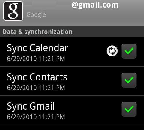 gmail la synchronisation rencontre actuellement des problèmes